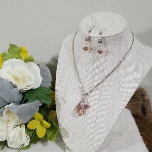🎁BOGO sale! Cute purple necklace set